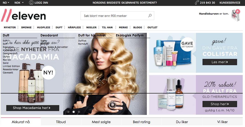 norsk nettbutikk kosmetikk