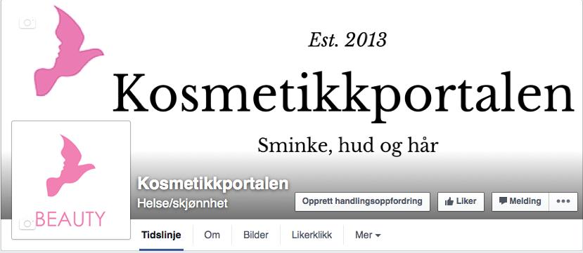 Kosmetikkportalen – nå også på Facebook