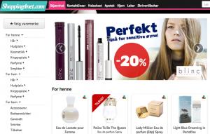 Slik ser nettsiden til Shopping4net ut.