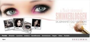 Screenshot fra Sminkebloggen. Foto og rettigheter: Sminkebloggen.no