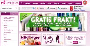 Blivakker.no er en flott nettbutikk. Her er et skjermbilde.